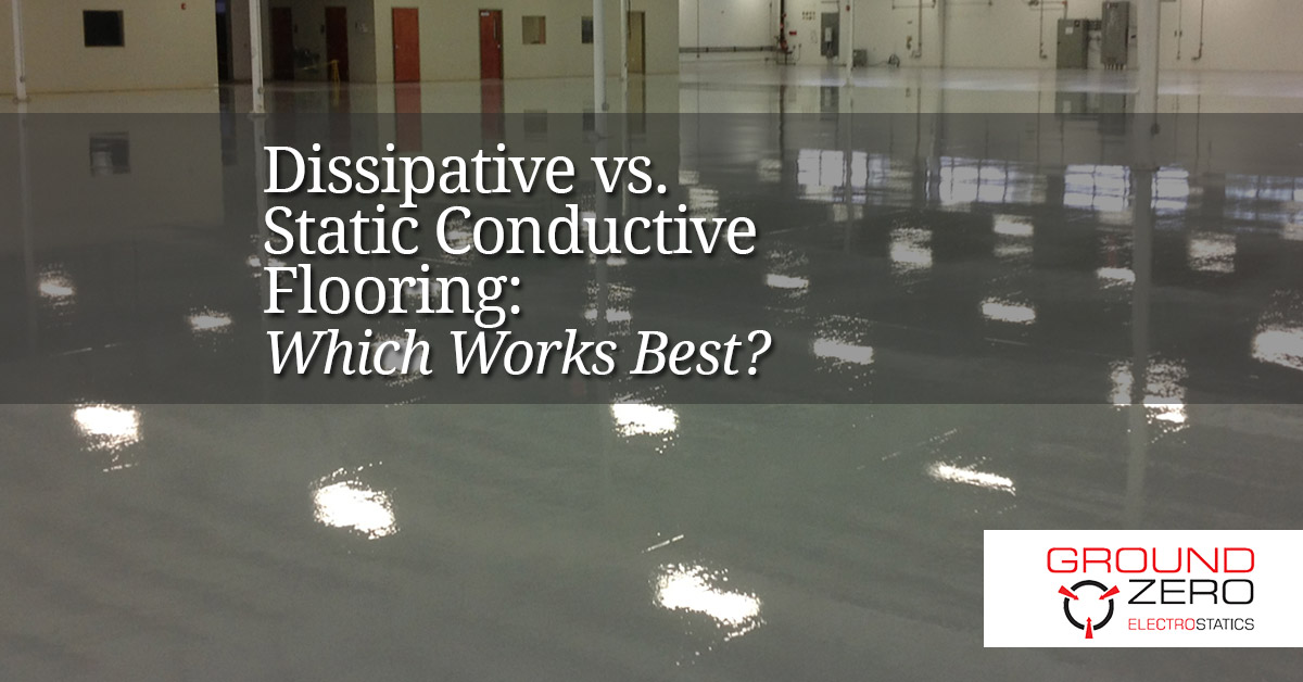 Static Dissipative Flooring : Dissipative vs static conductive flooring which works