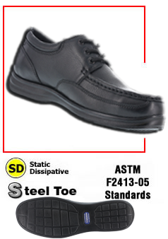 Casual Esd Shoes Oxford Shoes Slip Ons Ground Zero