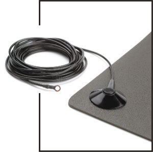 ESD and Static Control Ground Cords - Floor Mat Ground Cord