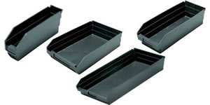 ESD shelf bins