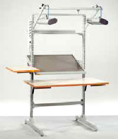 Worktable With Adjustable Frames